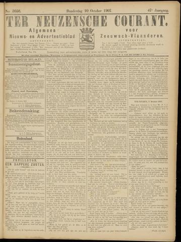 Ter Neuzensche Courant. Algemeen Nieuws- en Advertentieblad voor Zeeuwsch-Vlaanderen / Neuzensche Courant ... (idem) / (Algemeen) nieuws en advertentieblad voor Zeeuwsch-Vlaanderen 1907-10-10