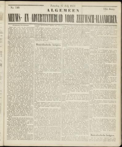 Ter Neuzensche Courant. Algemeen Nieuws- en Advertentieblad voor Zeeuwsch-Vlaanderen / Neuzensche Courant ... (idem) / (Algemeen) nieuws en advertentieblad voor Zeeuwsch-Vlaanderen 1872-07-27