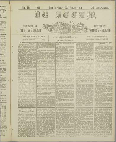 De Zeeuw. Christelijk-historisch nieuwsblad voor Zeeland 1911-11-23