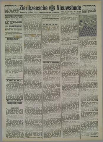 Zierikzeesche Nieuwsbode 1933-06-14