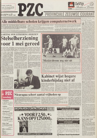 Provinciale Zeeuwse Courant 1985-10-17