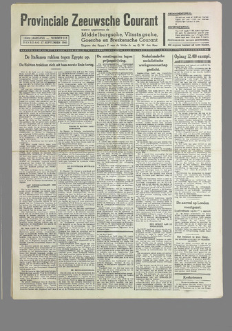 Provinciale Zeeuwse Courant 1940-09-17