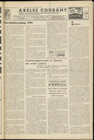 Axelsche Courant 1954-09-25