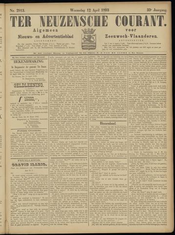 Ter Neuzensche Courant. Algemeen Nieuws- en Advertentieblad voor Zeeuwsch-Vlaanderen / Neuzensche Courant ... (idem) / (Algemeen) nieuws en advertentieblad voor Zeeuwsch-Vlaanderen 1893-04-12