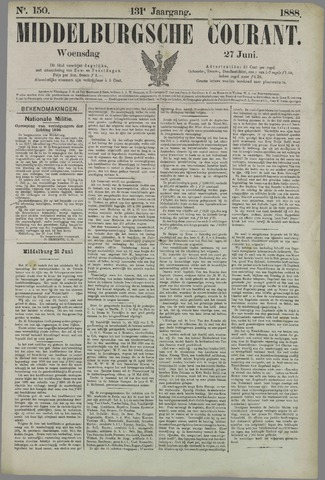 Middelburgsche Courant 1888-06-27