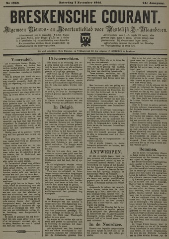 Breskensche Courant 1914-11-07