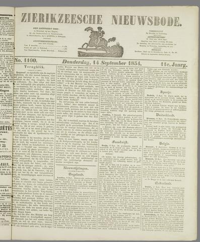 Zierikzeesche Nieuwsbode 1854-09-14