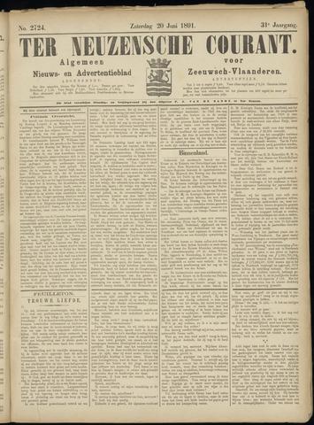 Ter Neuzensche Courant. Algemeen Nieuws- en Advertentieblad voor Zeeuwsch-Vlaanderen / Neuzensche Courant ... (idem) / (Algemeen) nieuws en advertentieblad voor Zeeuwsch-Vlaanderen 1891-06-20