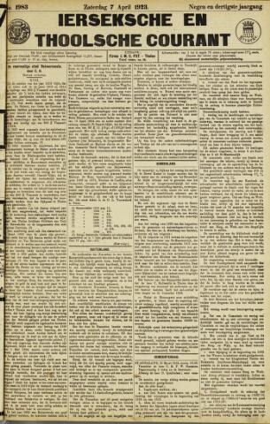 Ierseksche en Thoolsche Courant 1923-04-07