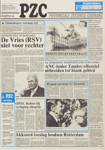 Provinciale Zeeuwse Courant 1985-07-24