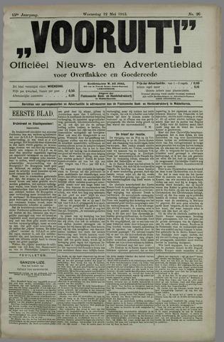 """""""Vooruit!""""Officieel Nieuws- en Advertentieblad voor Overflakkee en Goedereede 1915-05-12"""