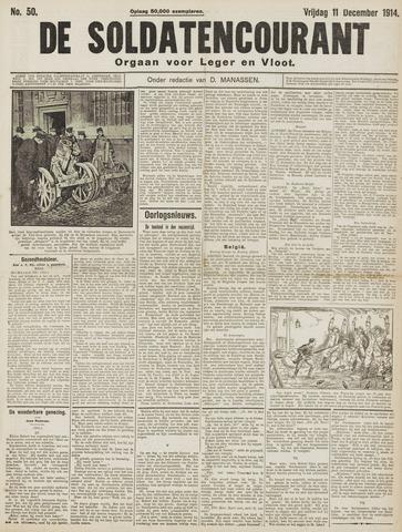 De Soldatencourant. Orgaan voor Leger en Vloot 1914-12-11