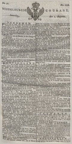 Middelburgsche Courant 1778-08-01