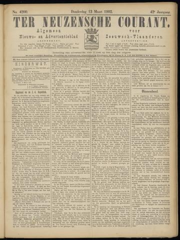 Ter Neuzensche Courant. Algemeen Nieuws- en Advertentieblad voor Zeeuwsch-Vlaanderen / Neuzensche Courant ... (idem) / (Algemeen) nieuws en advertentieblad voor Zeeuwsch-Vlaanderen 1902-03-13