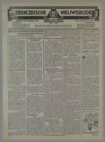 Zierikzeesche Nieuwsbode 1942-01-20