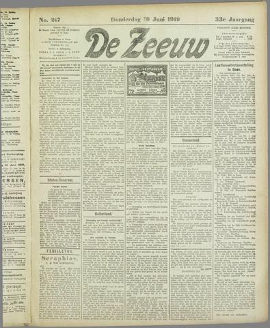 De Zeeuw. Christelijk-historisch nieuwsblad voor Zeeland 1919-06-19
