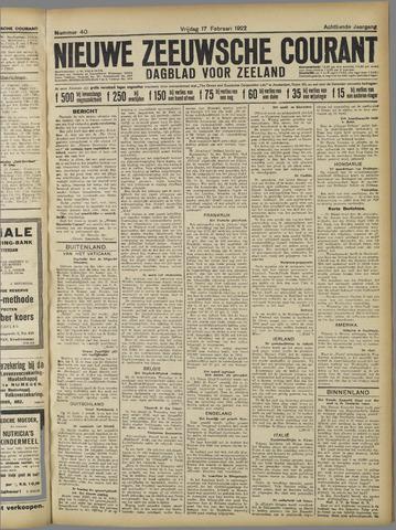 Nieuwe Zeeuwsche Courant 1922-02-17