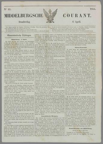 Middelburgsche Courant 1854-04-06