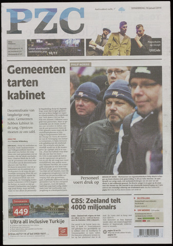 Provinciale Zeeuwse Courant 2014-01-16