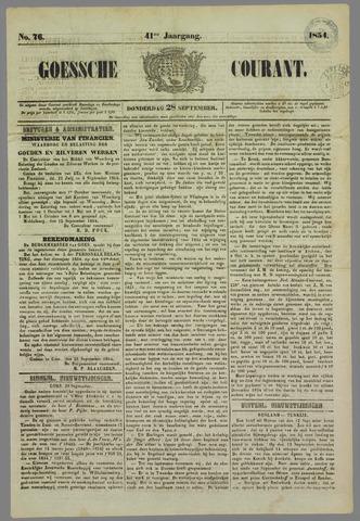 Goessche Courant 1854-09-28