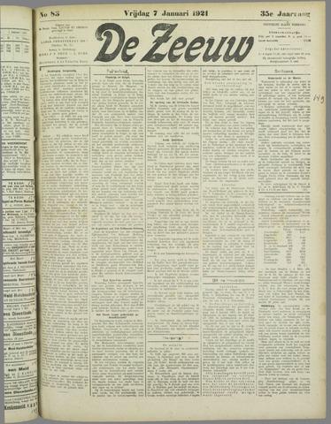 De Zeeuw. Christelijk-historisch nieuwsblad voor Zeeland 1921-01-07