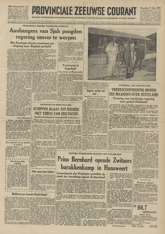 Provinciale Zeeuwse Courant 1953-08-17