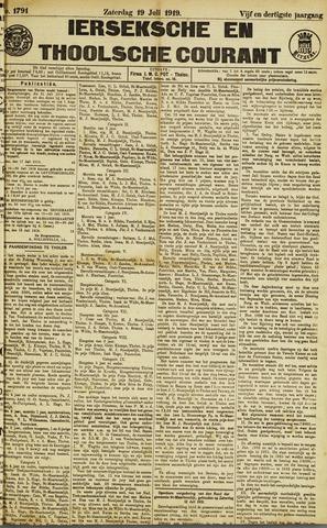 Ierseksche en Thoolsche Courant 1919-07-19