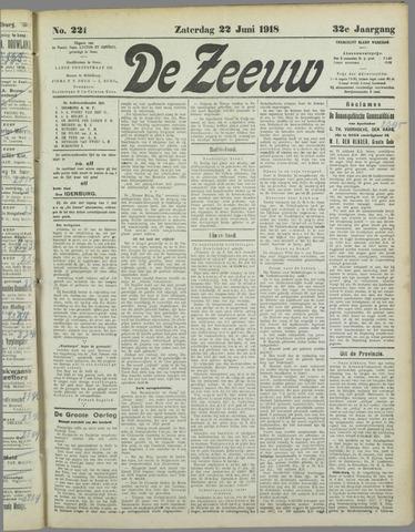 De Zeeuw. Christelijk-historisch nieuwsblad voor Zeeland 1918-06-22
