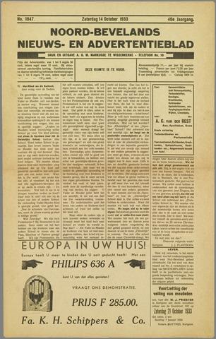 Noord-Bevelands Nieuws- en advertentieblad 1933-10-14