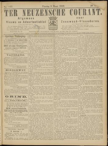 Ter Neuzensche Courant. Algemeen Nieuws- en Advertentieblad voor Zeeuwsch-Vlaanderen / Neuzensche Courant ... (idem) / (Algemeen) nieuws en advertentieblad voor Zeeuwsch-Vlaanderen 1910-03-08
