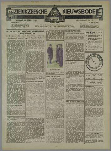 Zierikzeesche Nieuwsbode 1940-04-16