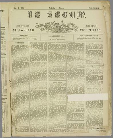 De Zeeuw. Christelijk-historisch nieuwsblad voor Zeeland 1895-10-03