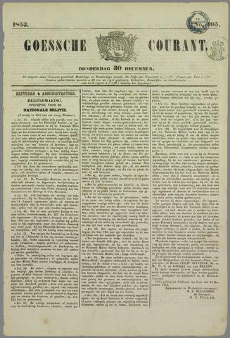 Goessche Courant 1852-12-30