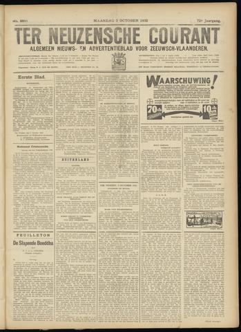 Ter Neuzensche Courant. Algemeen Nieuws- en Advertentieblad voor Zeeuwsch-Vlaanderen / Neuzensche Courant ... (idem) / (Algemeen) nieuws en advertentieblad voor Zeeuwsch-Vlaanderen 1932-10-03