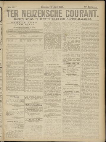 Ter Neuzensche Courant. Algemeen Nieuws- en Advertentieblad voor Zeeuwsch-Vlaanderen / Neuzensche Courant ... (idem) / (Algemeen) nieuws en advertentieblad voor Zeeuwsch-Vlaanderen 1920-04-10