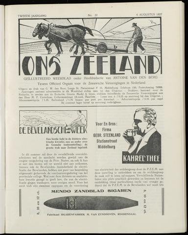 Ons Zeeland / Zeeuwsche editie 1927-08-06