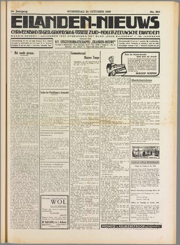 Eilanden-nieuws. Christelijk streekblad op gereformeerde grondslag 1938-10-26