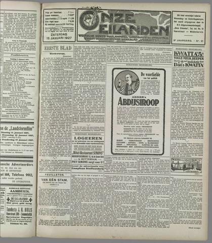 Onze Eilanden 1927-01-15