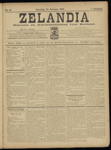Zelandia. Nieuws-en advertentieblad voor Zeeland | edities: Het Land van Hulst en De Vier Ambachten 1902-02-22
