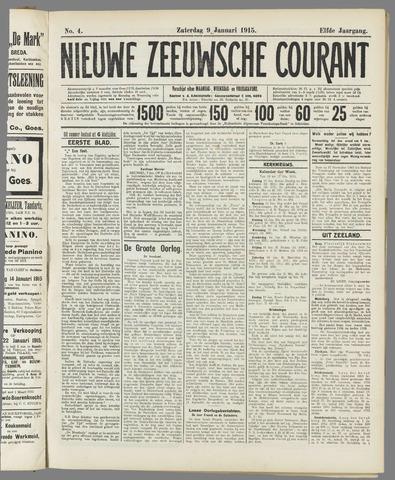 Nieuwe Zeeuwsche Courant 1915-01-09