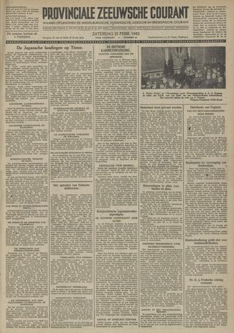 Provinciale Zeeuwse Courant 1942-02-21