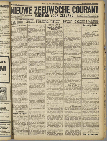 Nieuwe Zeeuwsche Courant 1923-01-30