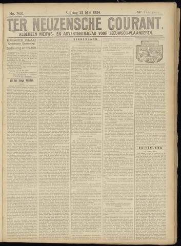 Ter Neuzensche Courant. Algemeen Nieuws- en Advertentieblad voor Zeeuwsch-Vlaanderen / Neuzensche Courant ... (idem) / (Algemeen) nieuws en advertentieblad voor Zeeuwsch-Vlaanderen 1924-05-23