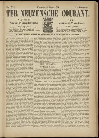 Ter Neuzensche Courant. Algemeen Nieuws- en Advertentieblad voor Zeeuwsch-Vlaanderen / Neuzensche Courant ... (idem) / (Algemeen) nieuws en advertentieblad voor Zeeuwsch-Vlaanderen 1882-03-08