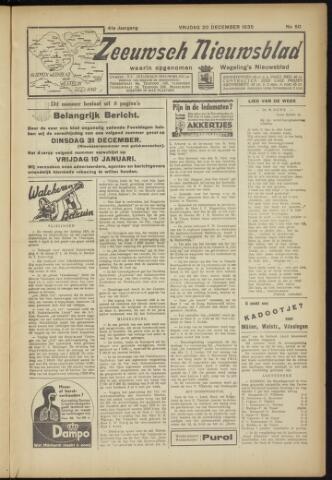 Zeeuwsch Nieuwsblad/Wegeling's Nieuwsblad 1935-12-20