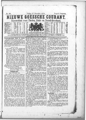 Nieuwe Goessche Courant 1874-11-27