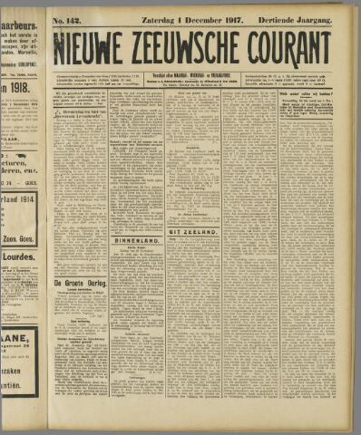 Nieuwe Zeeuwsche Courant 1917-12-01
