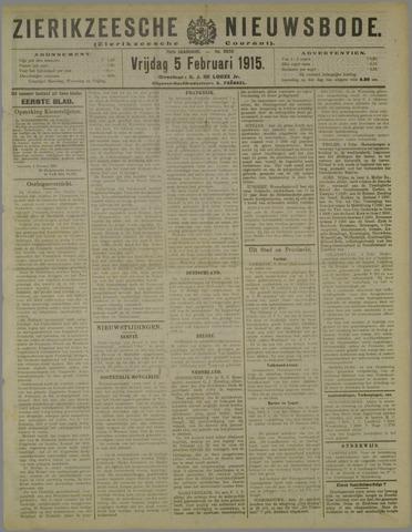 Zierikzeesche Nieuwsbode 1915-02-05
