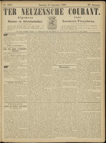 Ter Neuzensche Courant. Algemeen Nieuws- en Advertentieblad voor Zeeuwsch-Vlaanderen / Neuzensche Courant ... (idem) / (Algemeen) nieuws en advertentieblad voor Zeeuwsch-Vlaanderen 1886-09-18