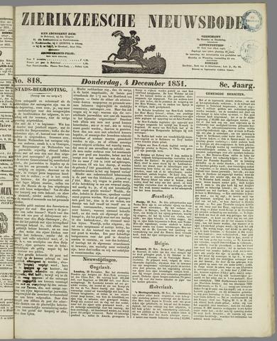 Zierikzeesche Nieuwsbode 1851-12-04